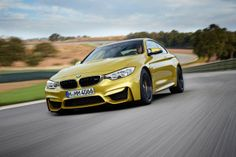 BMW have officially revealed the stunning new Coupe, a high-performance version of the new 4 Series. Producing an output of 431 hp and 431 lb-ft of torque, the lightweight BMW Coupe sprints from 0 to 100 mph) in seconds, and c Bmw M4, New Bmw M3, Bmw M3 Sedan, Bmw M3 Coupe, Bmw Autos, Auto Motor Sport, Sport Cars, Rolls Royce, Supercars