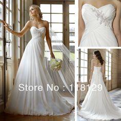 vestidos de novia simples con mangas Simple 2013 novia un línea de