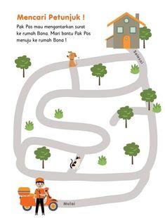 Preschool Worksheets, Maze, Activities For Kids, Kindergarten, Childhood, Kids Rugs, Education, Decor, Pranks