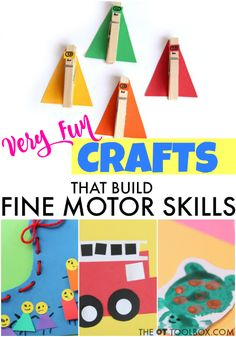Use crafts to help kids develop the fine motor skills needed for functional tasks, making occupational therapy play ideas fun and creative.