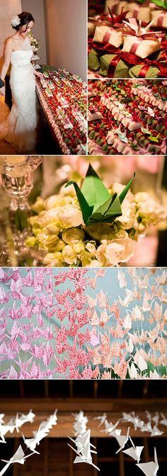 Inspirações singelas - decoração de casamento com tsuru