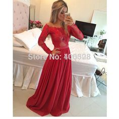 Find More Prom Dresses Information about Vestido De Festa Scoop Neckline Appliques Floor Length Long Sleeve High Quality A Line Red Prom Dress Latest Design,High Quality dress fashion designers,China designer occasion dresses Suppliers, Cheap dress jewelry from Forever Lover Bridal on Aliexpress.com