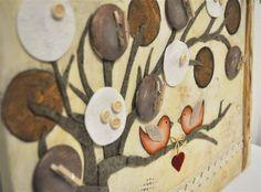 Un mio progetto mixed media con acrilici, feltro, carta, grafite acquerellabile... Progetto disponibile da Pezze e Colori http://www.pezzeecolori.it/