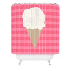 Allyson Johnson Vanilla Ice Cream Shower Curtain   DENY Designs Home Accessories