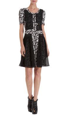 ICB Small Brushstroke Print Dress - Dresses - Barneys.com
