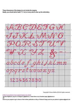 Cross Stitch Letter Patterns, Unicorn Cross Stitch Pattern, Cross Stitch Letters, Cross Stitch Borders, Cross Stitch Charts, Cross Stitch Designs, Cross Stitching, Cross Stitch Embroidery, Stitch Patterns