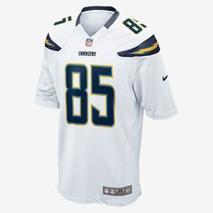 64e14ac1c Nike NFL Los Angeles Chargers (Antonio Gates) Kids  Football Away Game Jersey  Size Small (White) - Clearance Sale