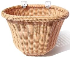 Bike Baskets - Colorbasket 01419 Adult Front Handlebar Bike Basket Natural Color -- Be sure to check out this awesome product. Rear Bike Basket, Wicker Basket Drawers, Bicycle Bell, Best Home Gym, Cool Bikes, Leather, Color, Patent Pending, Bicycles
