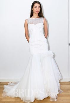 Brides.com: . Wedding dress by Elisabetta Polignano
