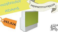 Mostrador de recepción para espacios pequeños. Elige el color que más vaya con tu marca.