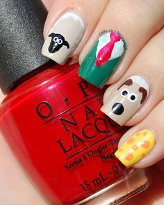 Wallace & Gromit Nails. May be the cutest thing I've ever seen.