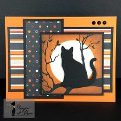 "I'm Being Followed By A Moonshadow Cat This Moonshadow Cat Halloween card reminds me of one of my favorite songs – ""Moonshadow"" by Cat Stevens. No pun intended I promise. The card was made using the Stampin' Up! Spooky Night Designer Series Paper (DSP) and the Cat Punch. I was going to hold on to …"
