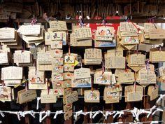 Wünsche und Gebete können am Asakusa Shrine aufgehängt werden, Senso-ji Tempel in Tokyo