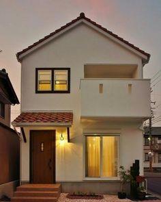 Japan House Design, Village House Design, House Front Design, Tiny House Design, Minimal House Design, Modern Small House Design, Modern Minimalist House, Style At Home, House Construction Plan