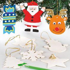 Lot de 12 décoration de Noël en bois pour enfants à décorer, suspendre et utiliser pour les loisirs créatifs et décorations.: Amazon.fr: Jeux et Jouets