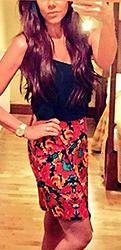 Multi Coloured Floral Print Asymmetrical Zip Skirt Tie Dye Skirt, Floral Prints, Zip, Womens Fashion, Skirts, Color, Floral Patterns, Colour, Skirt