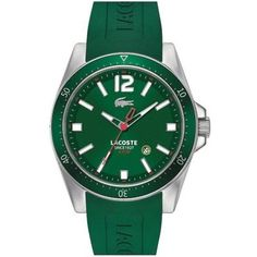 Lacoste - Men's Seattle Green Stainless Steel Watch - 2010663  Online price: £99.00  www.lingraywatches.co.uk