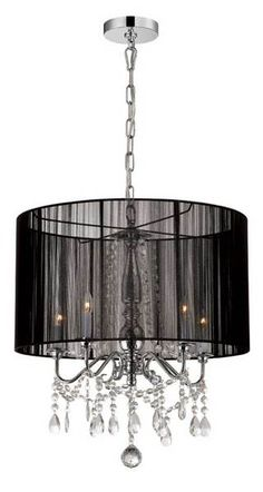 Urban barn Liza Pendant Lamp (Black) $400