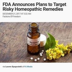 Just remember chemotherapy has a 3% success rate, basically is doesn't work AND effectively spreads the cancer everywhere, and it's FDA approved... amazing what cancer money can afford legislation wise... Repost from @realjguillen Alternative remedies like #homeopathic treatments have become popular in recent years and now make up a $3 billion industry. But the #FoodandDrugAdministration will begin scrutinizing products that could be dangerous to vulnerable populations.  Many…