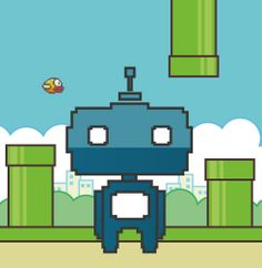 Flappy bot celebrates the indie game's triumph.