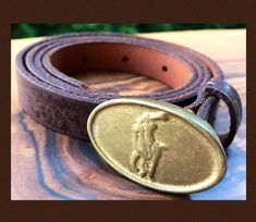 Your place to buy and sell all things handmade Leather Belt Buckle, Brass Buckle, Belt Buckles, Polo Ralph Lauren, Vintage Fashion, Buy And Sell, Gold, Stuff To Buy, Image