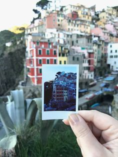Traveling Italy with Polaroid. There was nothing as quaint and perfect as the Cinque Terre region in Italy. The five towns are each more beautiful than the last. Pictured here is the southern-most of the five towns, Riomaggiore. Get Lost With Jackie