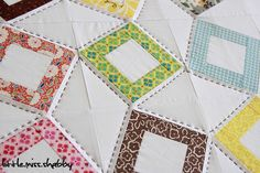 Yummy hand quilting. Love.