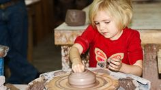 They start young in the Alewine family - at Alewine Pottery on the Gatlinburg Arts & Crafts Trail. Great family operation, live music playing, snacks, and a whole range of unique pottery. Click through to read our blog story on them.