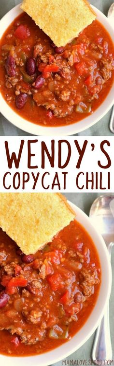 tastes just like it!!! Wendy's Chili Copycat Recipe - How to make Wendy's…