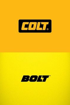 Typeverything.com Logo wars.Colt logotype by Yana Makarevich. VS Bolt…