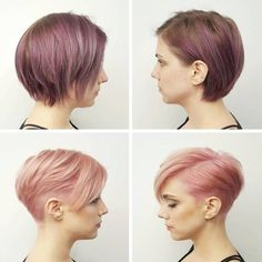 Rose Gold Tapered Pixie