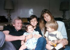 Young Maxima with her family.