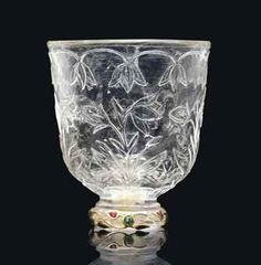 A MUGHAL GEMSET ROCK-CRYSTAL CUP INDIA, LATE 17TH/EARLY 18TH CENTURY