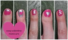 Valentine Nails the Easy Way!!  I can't believe how simple this is, how clever & fun :)