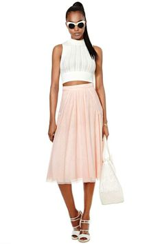 Nasty Gal Collection Tempted Heart Lace Skirt