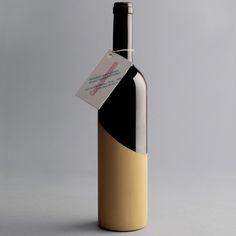 Wood+Glass concept wine bottle
