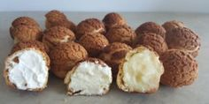 Cream puffs! Alchemy, Fun Desserts, Muffin, Cream, Baking, Simple, Breakfast, Food, Palm Oil