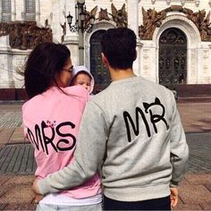 Cute Mr Mrs Printed Couple Sweatshirts