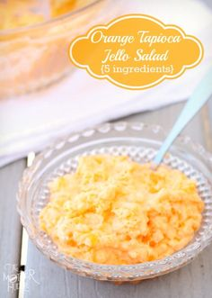 Family Favorite Recipe, Orange Tapioca Jello Salad, made with instant Jello pudding and orange Jello Gelatin. Perfect side dish for Easter. Jello Fruit Salads, Orange Jello Salads, Jello Desserts, Jello Recipes, Dessert Salads, Just Desserts, My Recipes, Delicious Desserts, Dessert Recipes