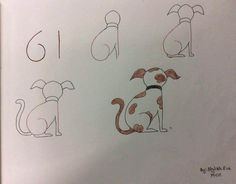 Exciting Learn To Draw Animals Ideas. Exquisite Learn To Draw Animals Ideas. Easy Drawings For Kids, Love Drawings, Drawing For Kids, Animal Drawings, Art For Kids, Simple Drawings, Drawing Step, Drawing Lessons, Art Lessons