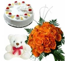 Wish your Loved ones by gifting this delight combo,this hamper includes 12 red color roses bouquet, delicious cake with choice of your flavour and cute teddy bear. Delight Combo is a delightful gift hamper consisting of a bouquet of multicolor roses, delicious cake of the flavor of your choice and a cute teddy bear. Send this amazing combo to your loved once through our Shop2Vijayawada and make them happy.