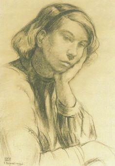 Portrait of Tove Jansson 1935 - Sam Vanni Fine Art Drawing, Life Drawing, Drawing Sketches, Art Drawings, Tove Jansson, Art Reference, Children's Books, Finland, Design