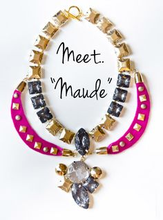 DIY: Marc by Marc Jacobs Claude Resin and Glass Collar Necklace | Court + Hudson - DIY Necklace #DIY #Necklace