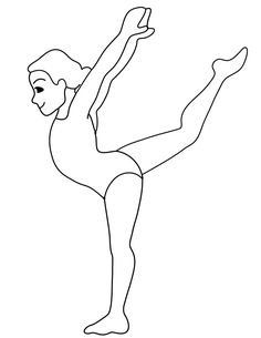 gymnastics free printable gymnastics coloring pages for kids