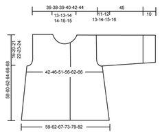 """Saco de punto DROPS línea A, con mangas ¾ en """"Silke Alpaca"""".  Talla S – XXXL.  Patrón gratuito de DROPS Design."""