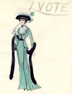 Edith Head sketch (unknown).Judging by the face, this might have been intended for Natalie Wood in the film, The Great Race.