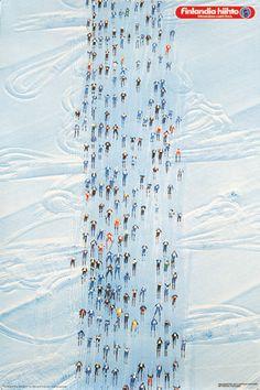"""Skiing event """"Finlandia hiihto"""" by Kyösti Varis"""