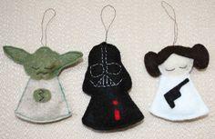 Star Wars felt ornaments  - adorable!