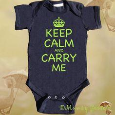 Funny Baby Boy Romper Keep Calm Creeper Retro Boy by MumsyGoose