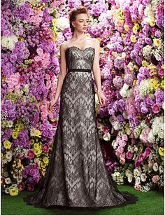 A-line Sweetheart Court Train Wedding Dress (Lace) - USD $ 449.99
